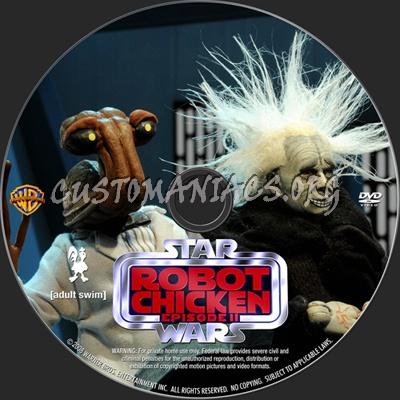 Robot Chicken Star Wars Episode II dvd label