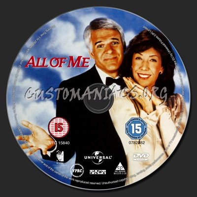 All of Me dvd label