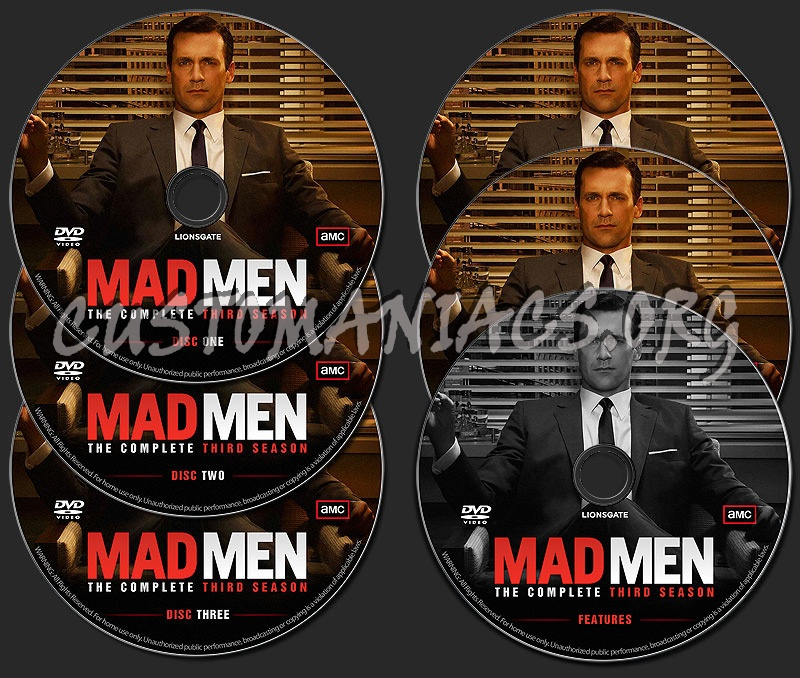 Mad Men - The Complete Third Season dvd label