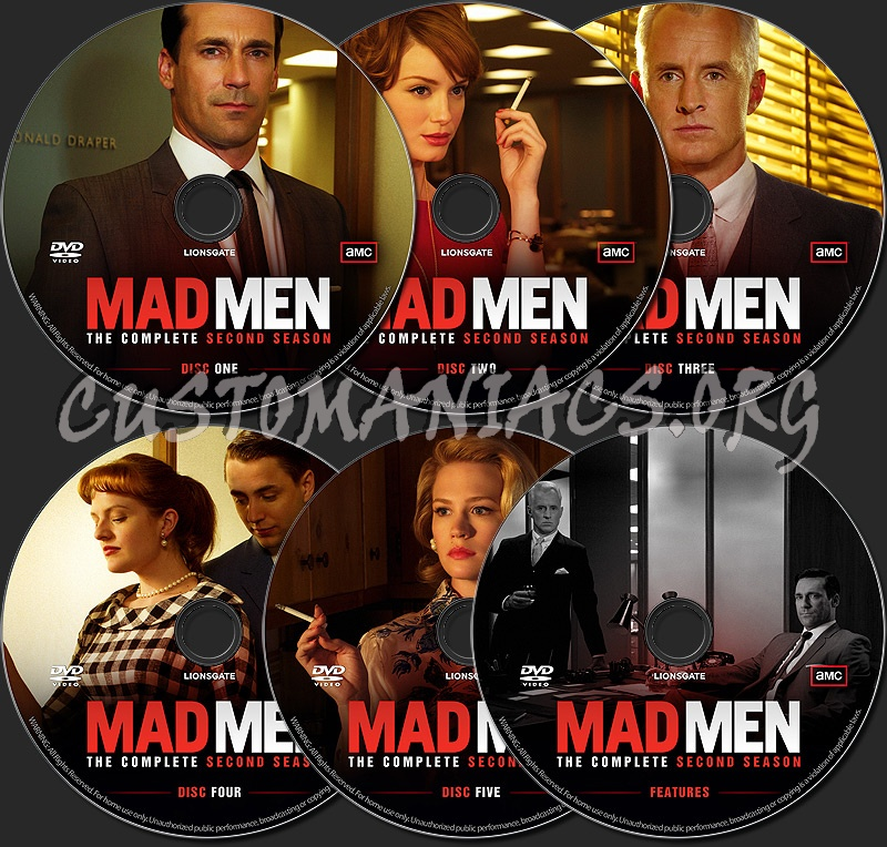 Mad Men - The Complete Second Season dvd label