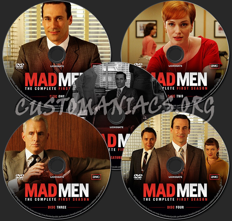 Mad Men - The Complete First Season dvd label