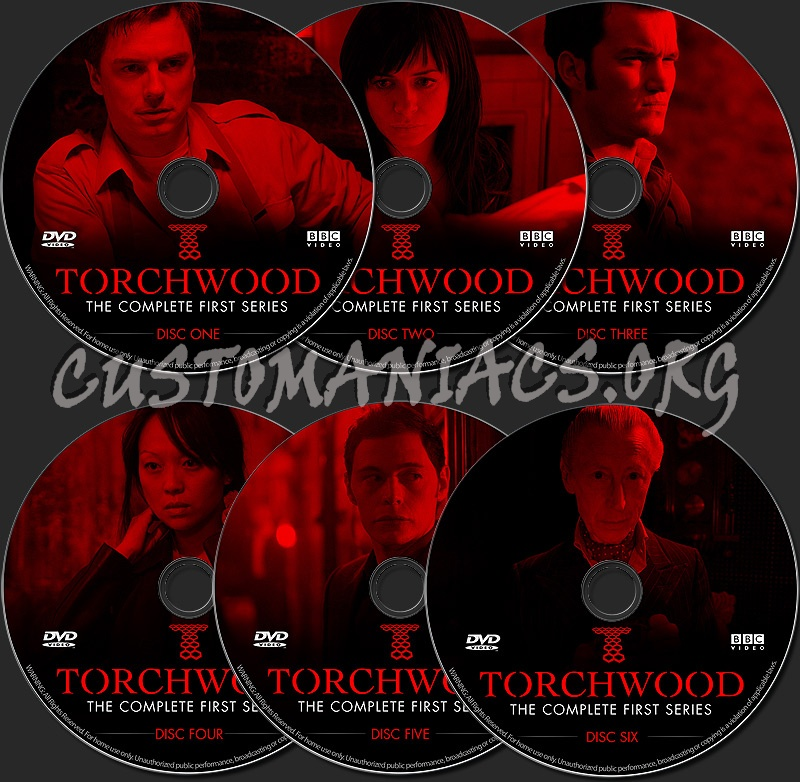 Torchwood - The Complete First Series dvd label