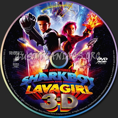 The Adventures of Sharkboy and Lavagirl dvd label