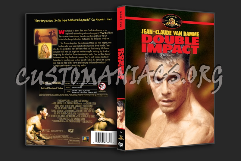 Double Impact dvd cover