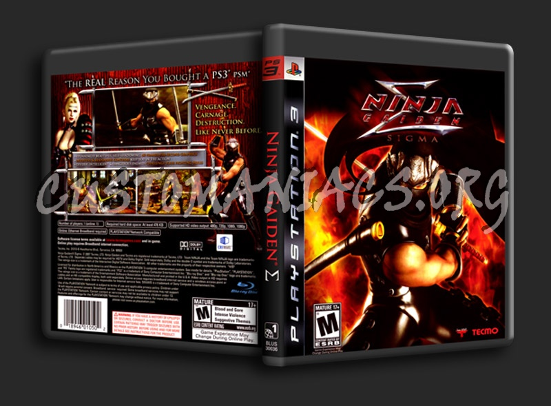 Ninja Gaiden Sigma Dvd Cover Dvd Covers Labels By Customaniacs