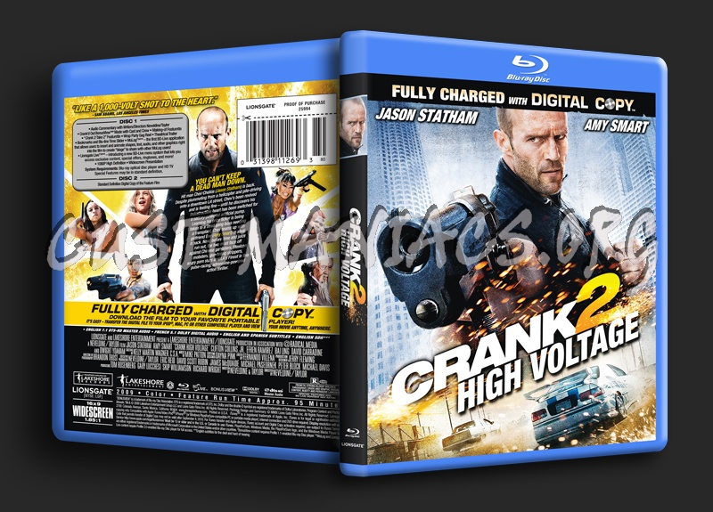 Crank 2 High Voltage blu-ray cover