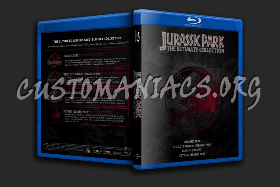 Jurassic Park Trilogy blu-ray cover