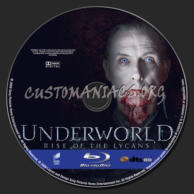 Underworld Rise Of The Lycans blu-ray label