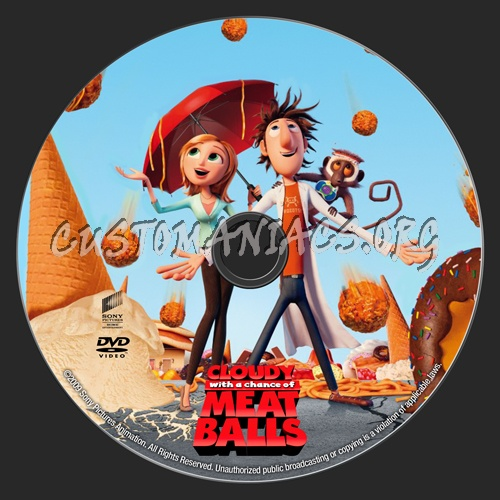 Cloudy with a Chance of Meatballs dvd label