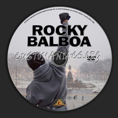 Rocky Balboa dvd label