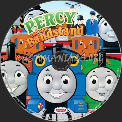 Thomas & Friends Percy & the Bandstand dvd label