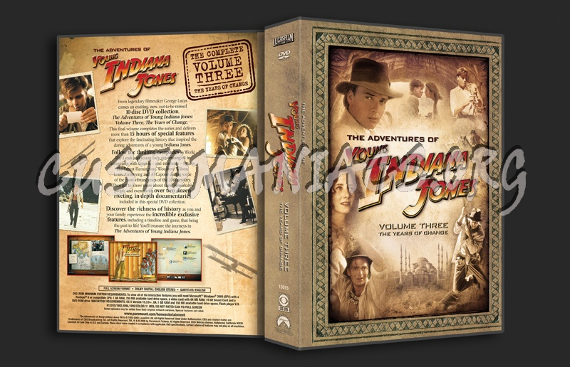 Young Indiana Jones Volume 3 dvd cover