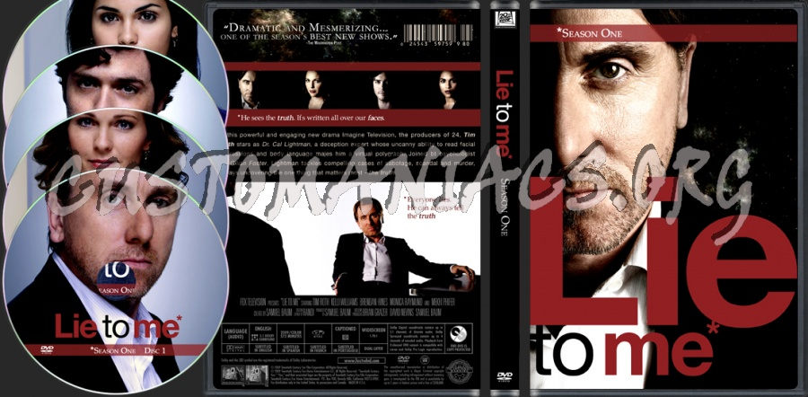 Lie to Me Season 1 dvd cover - DVD Covers & Labels by
