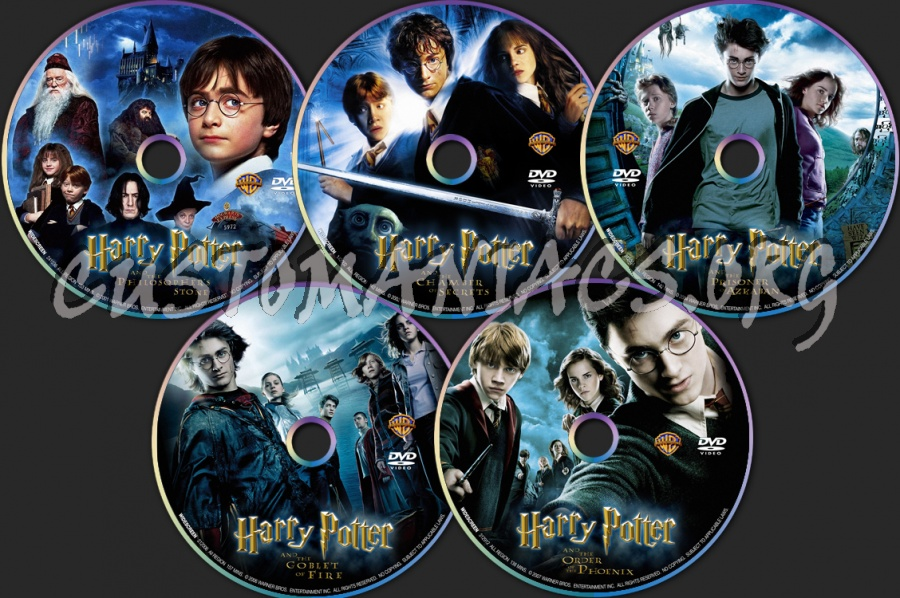 Harry Potter Collection 1 - 5 dvd label