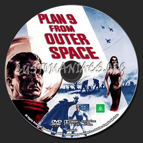 Plan 9 From Outer Space dvd label