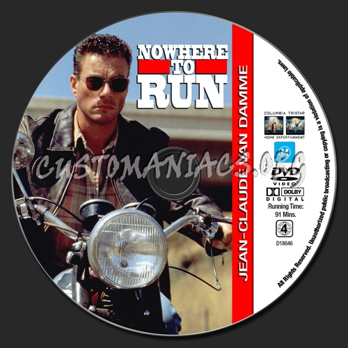 Van Damme Collection - Nowhere To Run dvd label