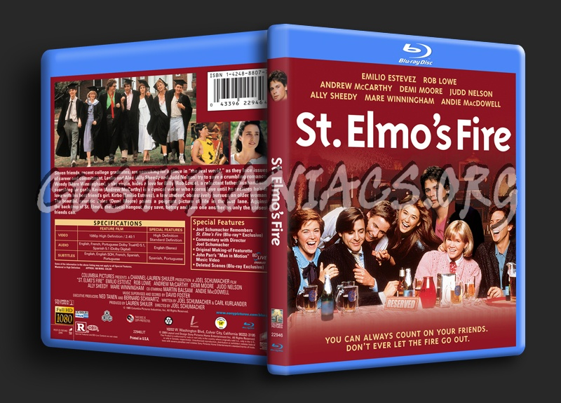 St. Elmo's Fire blu-ray cover