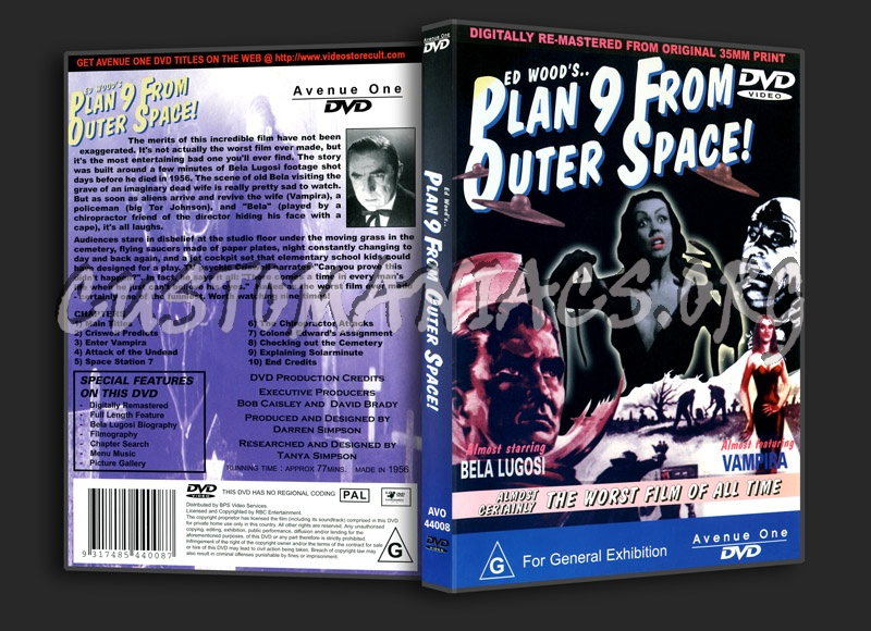 Plan 9 From Outer Space dvd cover