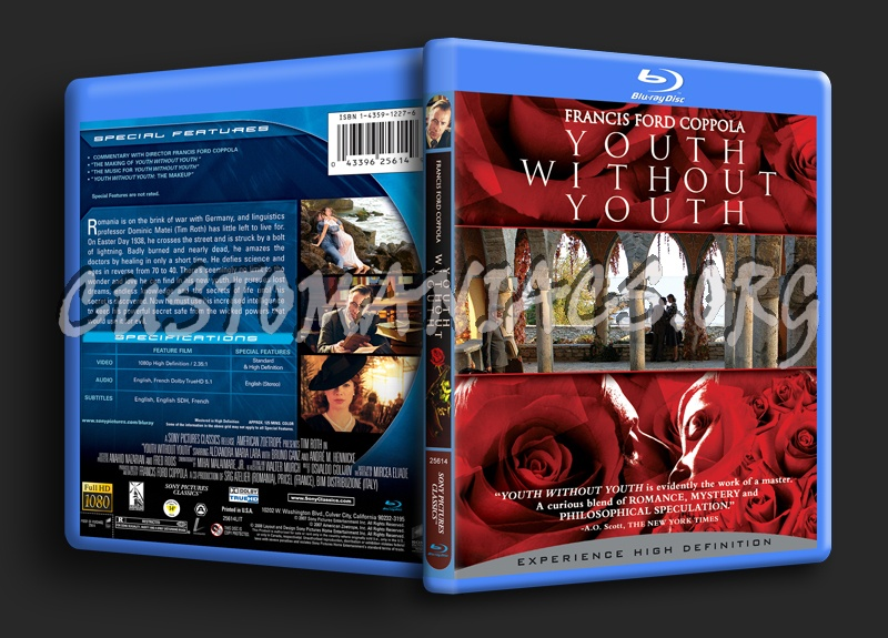 Youth Without Youth blu-ray cover