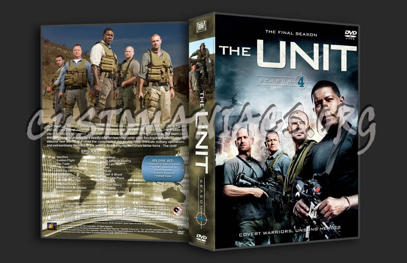 The Unit: Seasons 1-4 dvd cover