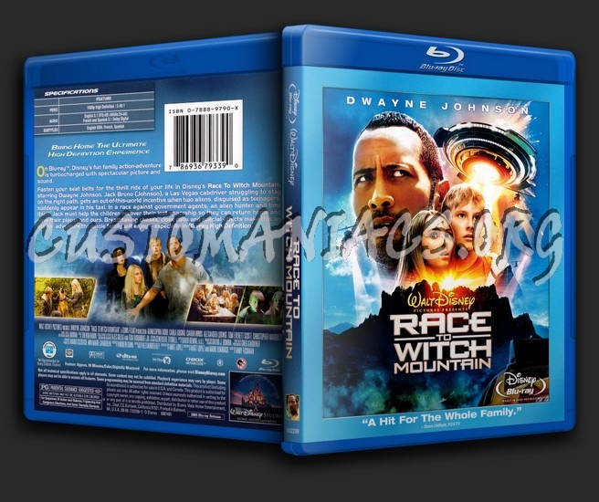 Race to Witch Mountain blu-ray cover