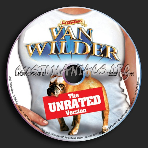 Van Wilder 2002 & Unrated dvd label