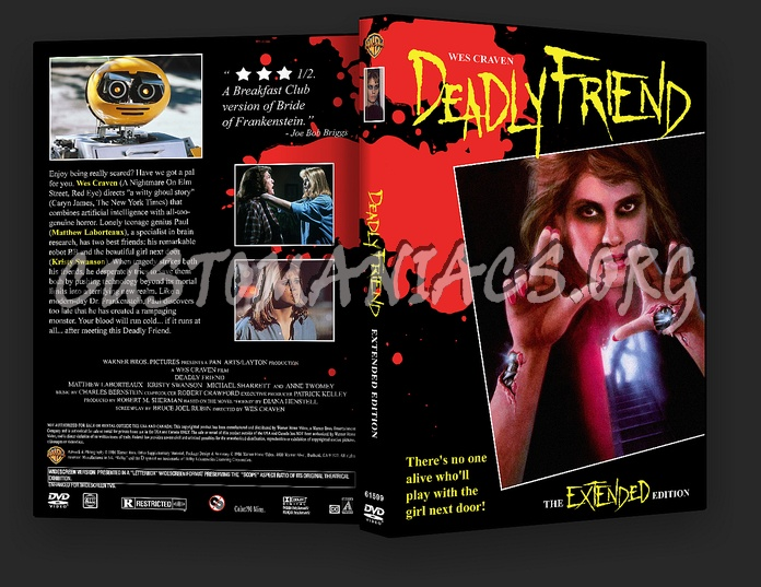 Deadly Friend dvd cover