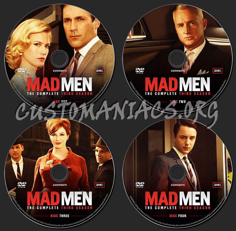 MAD MEN - Season 3 dvd label