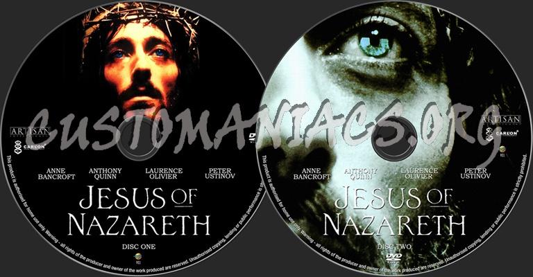 Jesus of Nazareth dvd label