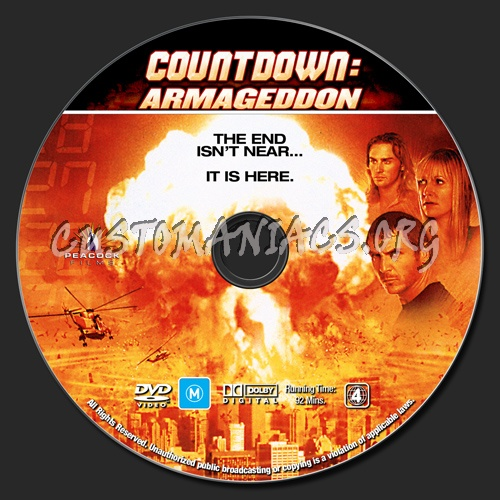 Countdown: Armageddon dvd label