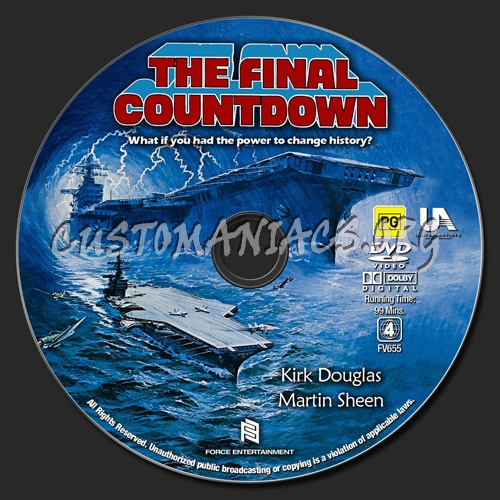 The Final Countdown dvd label
