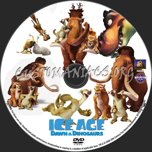 Ice Age Dawn Of The Dinosaurs dvd label