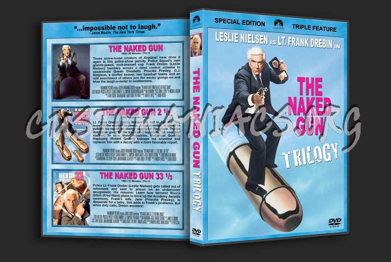 The Naked Gun Trilogy dvd cover