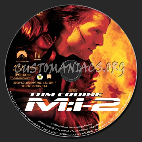 Mission Impossible 2 blu-ray label