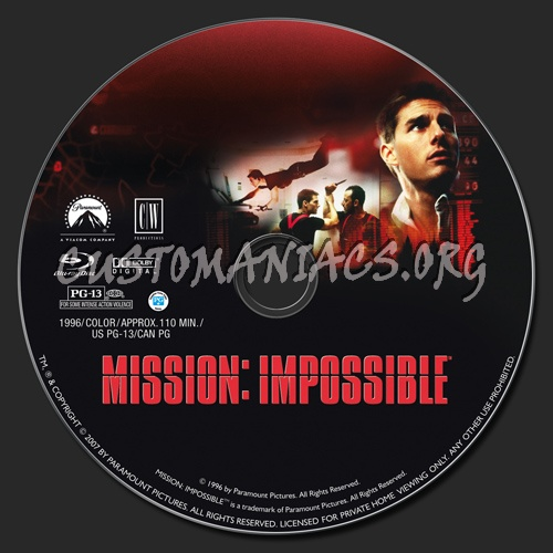 Mission Impossible blu-ray label