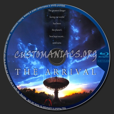 The Arrival blu-ray label