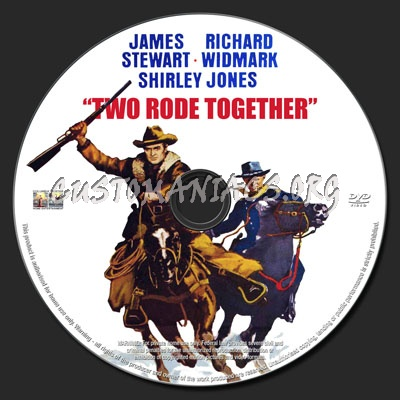 Two Rode Together dvd label