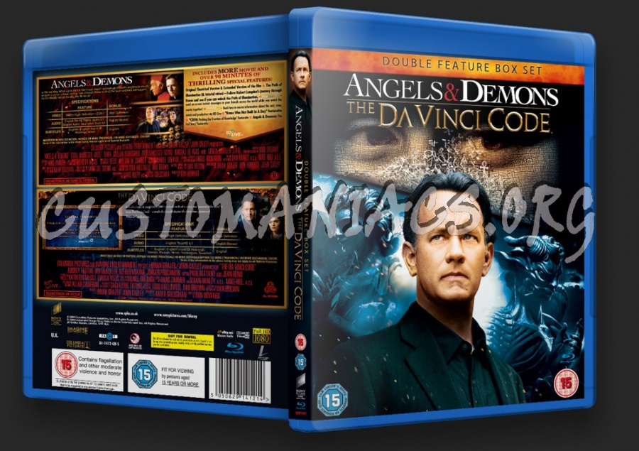 The Da Vinci Code / Angels and Demons Double Feature blu-ray cover