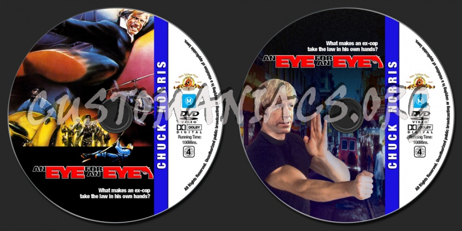 Chuck Norris Collection - An Eye For An Eye dvd label