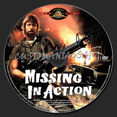 Missing in Action dvd label