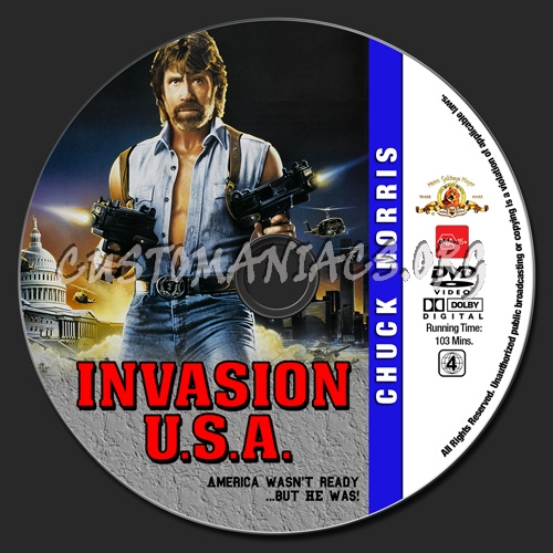 Chuck Norris Collection - Invasion U.S.A. dvd label