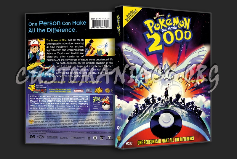 Pokemon 2000 The Movie Dvd Cover Dvd Covers Labels By