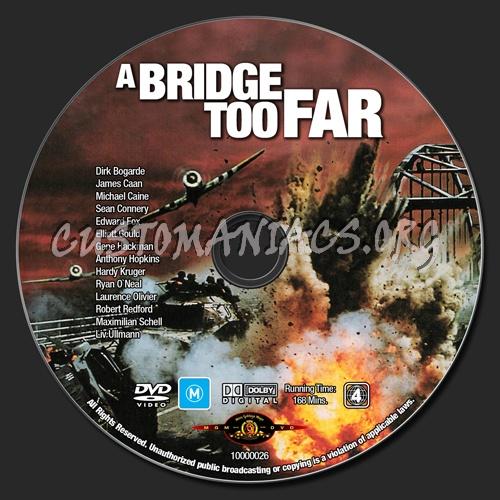 A Bridge Too Far dvd label
