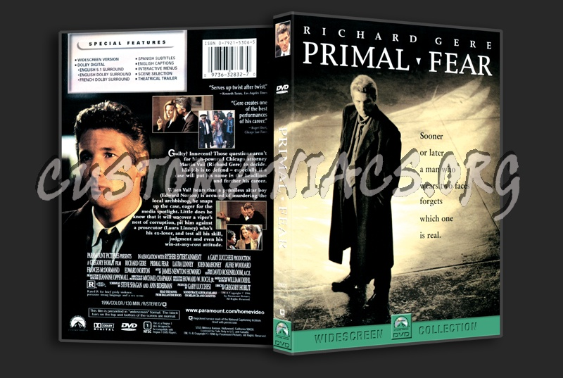 Primal Fear dvd cover