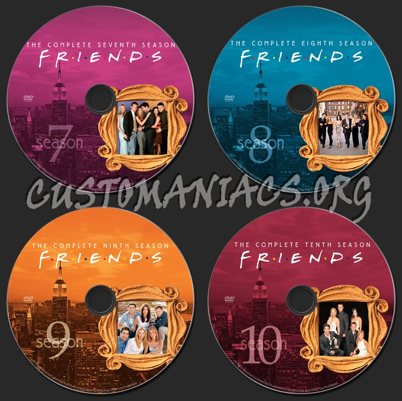 Friends dvd label