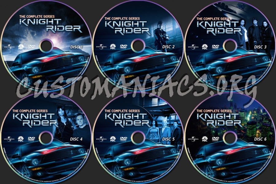 Knight Rider (2008) dvd label - DVD Covers & Labels by Customaniacs