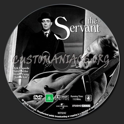 The Servant dvd label