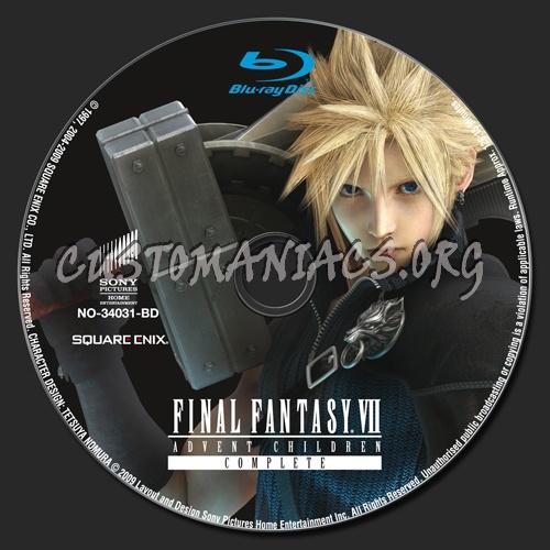 Final Fantasy 7 Advent Children blu-ray label