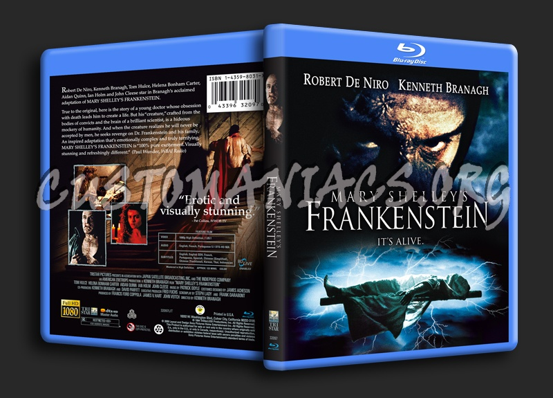 Mary Shelley's Frankenstein blu-ray cover