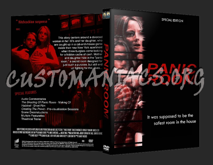 Panic room dvd cover dvd covers labels by customaniacs for Custom panic room